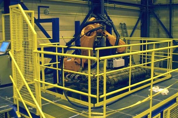 Opstelling van de ABB IRB7600 robot