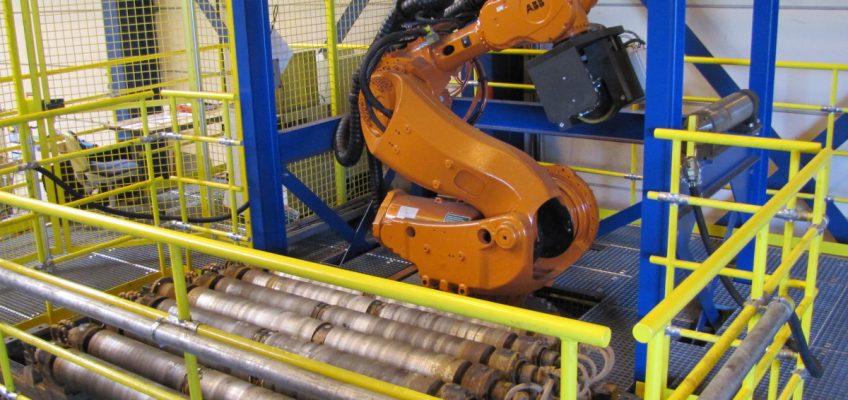 Robot in ruststand